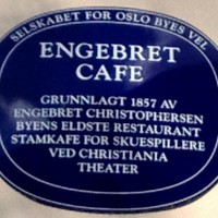 Skilt som forteller om Engebrets historie. Foto Henning Høholt