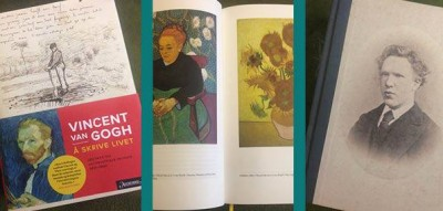 Van Gogh cover. Book about Vincent Van Gogh  and his art.
