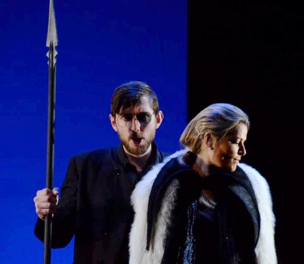The big pleasant surprise was Jørgen Backer, extraordinary well singing and performing as Wotan. Many brilliant and well sounding details, A master piece. At the photo Jørgen Backer as Wotan and Anna Einarsson as Fricka in Die Walküre at Operaen in Oslo, Lidal North Operw Work Shop. June 2015. Foto