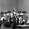 Oslo Philharmonic Orchestra in Santander, Spain, in front Vilde Frang Bjerke, who was vilolinsoloist in Brahms violinconcerto , Left the two concertmasters Elise Båtnes and Terje Tønnesen. foto Emilija Temirkulovaite.