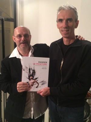 Philippe Verrièle (left) and Laurent Paillier, with their new book Danser La Peinture. Foto Henning Høholt, Paris 2015
