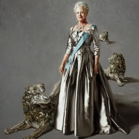 HM Queen Margrethe II of Denmark, painted by Mikael Melbye.